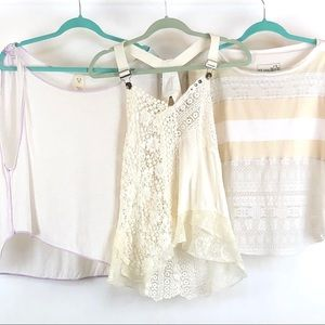 3 Free People tops size S/P Flaws